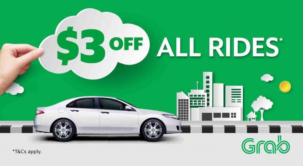 Grab Singapore $3 Off Grab Rides with TAKE3 Promo Code 13-19 Nov