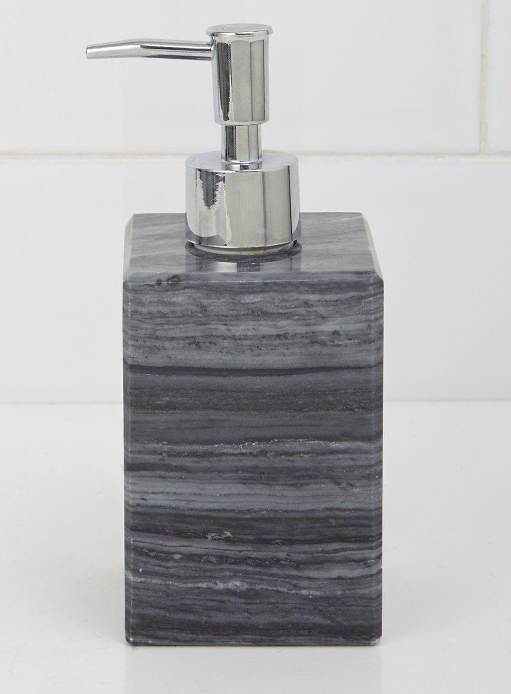 Grey marble soap dispenser bhs bathroom accessories - Bathroom accessories soap dispenser ...