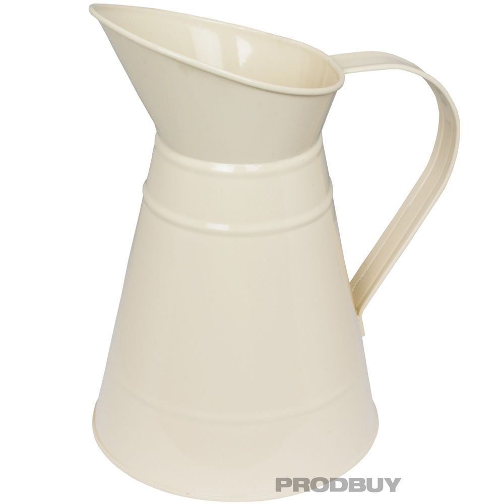 10 cream enamel finish metal jug pitcher shabby chic vintage vase 10 cream enamel finish metal jug pitcher shabby chic vintage vase decoration reviewsmspy