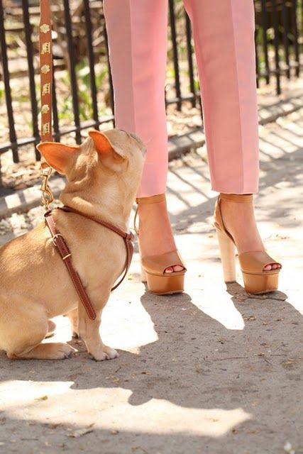 love the color combo tan and pink but seriously those are killer