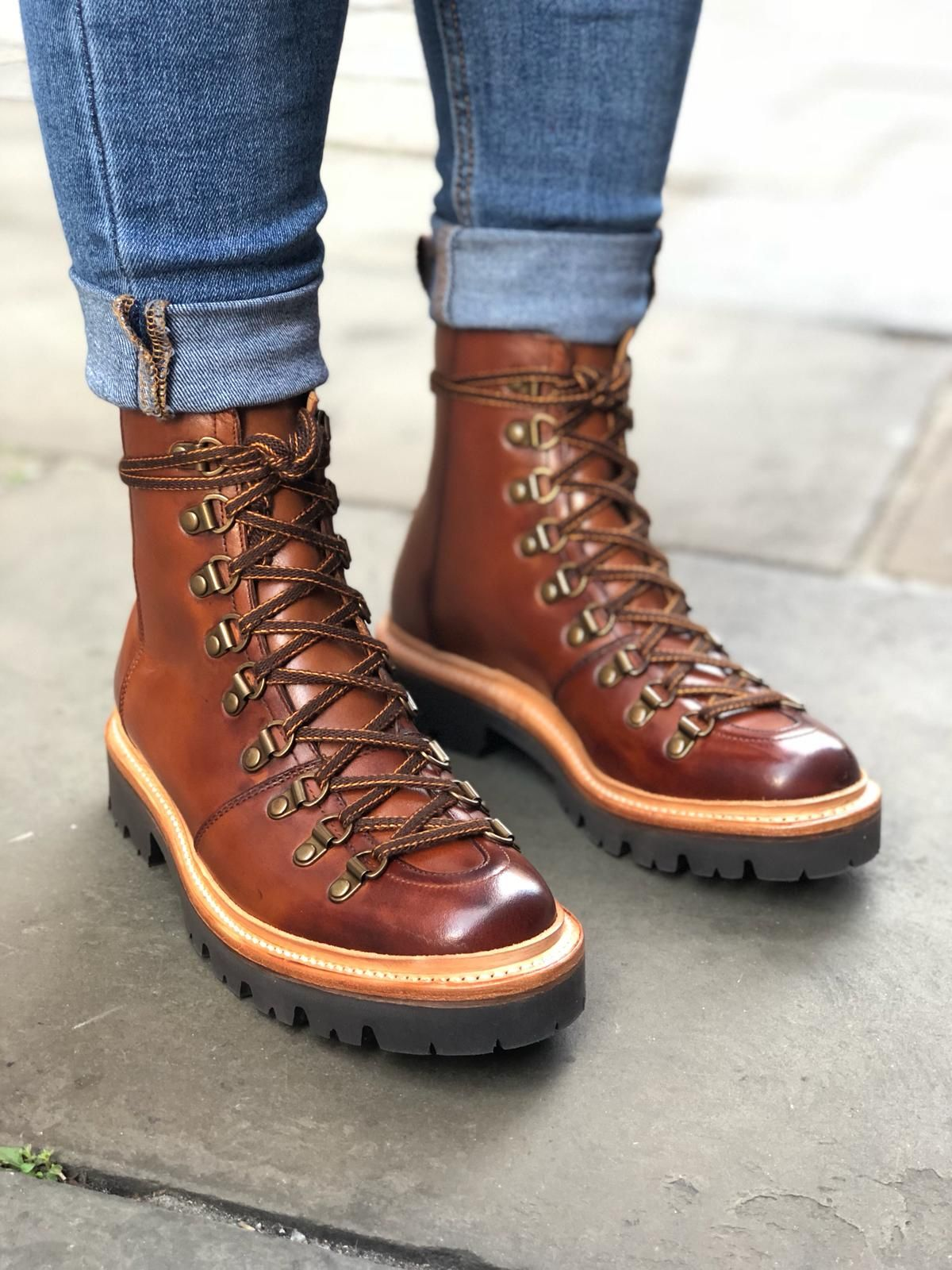 70b61ff4187 Grenson in Tan Hand Painted | Shoes in 2019 | Boots, Shoe boots ...