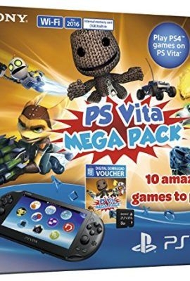 Sony Playstation Vita Console with 10 game Mega Pack