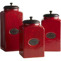 colorful kitchen canisters i the color and this will look great in my 11057
