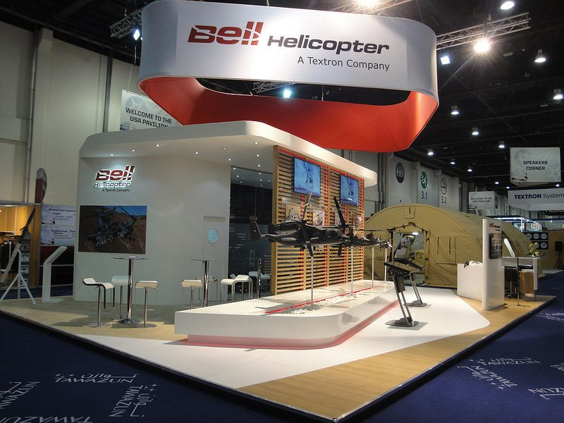 Bell Helicopter at IDEX | Trade booth design | Pinterest ...