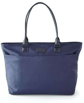 $90, Navy Canvas Tote Bag: Lipault Navy City Tote. Sold by Neiman Marcus. Click for more info: https://lookastic.com/women/shop_items/247860/redirect