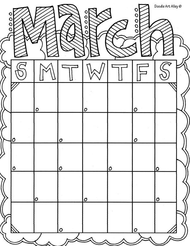 Marchjpg Saying coloring picture Pinterest Color pictures - workout calendar template
