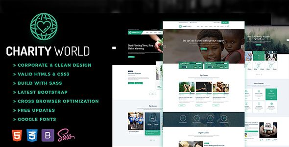 Download Charity World - Multipurpose Non-profit HTML5 Template - profit template