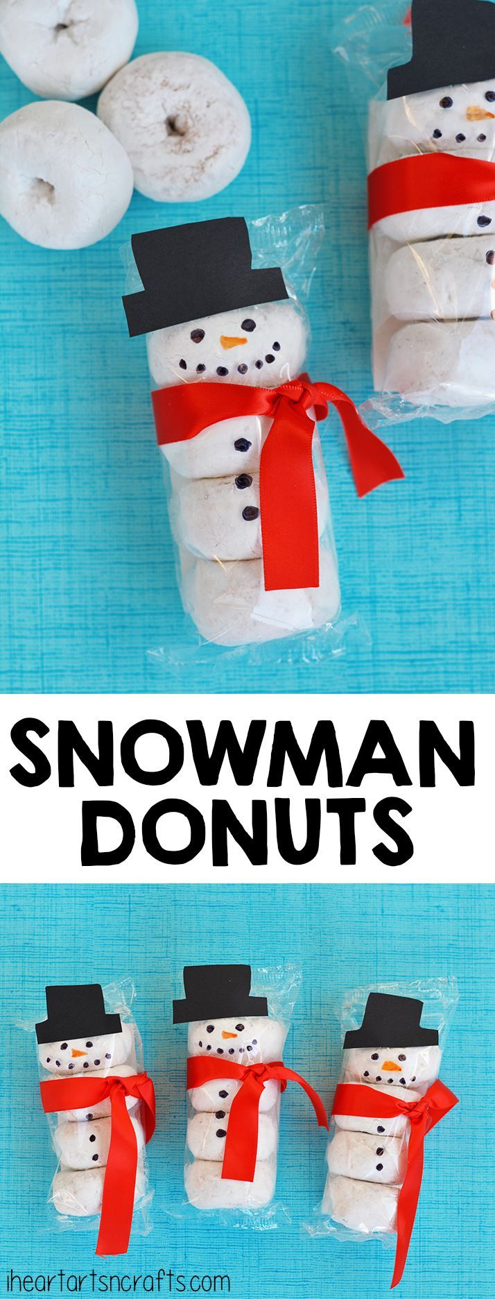 Snowman Donuts What A Cute Idea For A Classroom Snack Or Fun Treat For The Kids