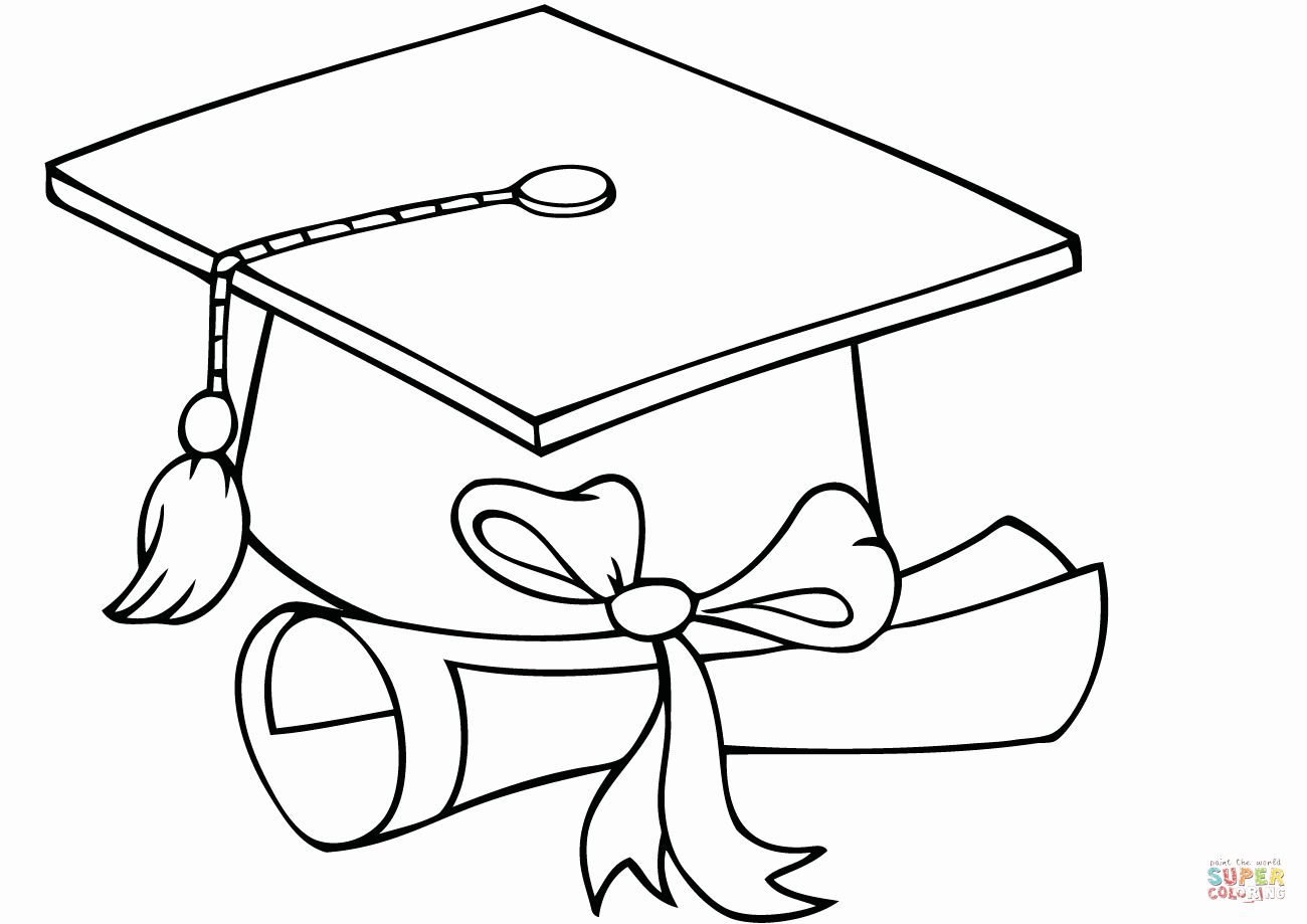 Graduation Cap Coloring Page Best Of Graduation Cap Coloring Page Printable Colouring Graduation Cap Drawing Graduation Drawing Graduation Cap