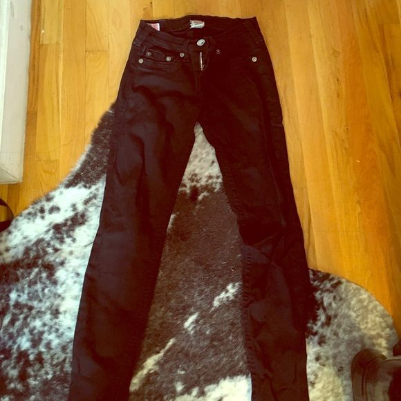 True Religion Skinny Jeans True Religion Black Skinny Jeans. They have a little wear and tear. But still in good condition. True Religion Jeans Skinny
