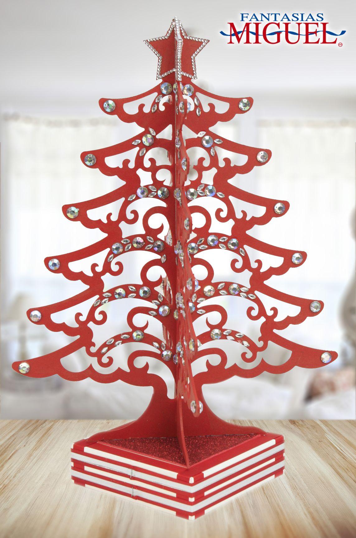 Pino de madera rojo navidad 2014 adorno decoraci n for Decoracion de navidad 2014