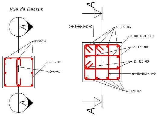 Plans architectural dune villa avec plan de ferraillage format autocad dwg cours génie