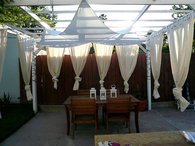 Ikea Curtains   Backyard Cabana