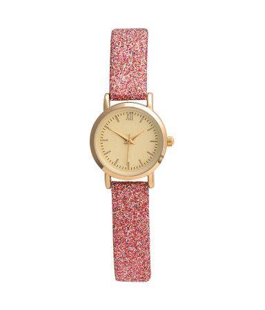 Horloge | Rose/glitters | Dames | H&M NL