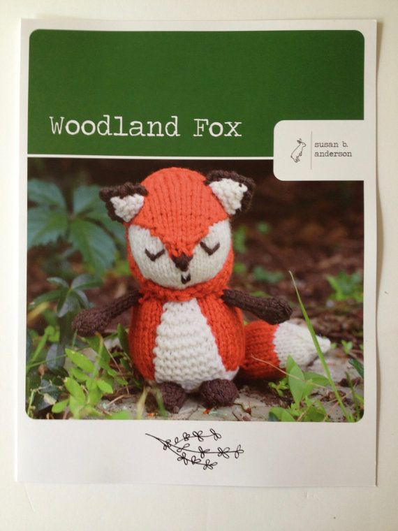 Amigurumi Woodland Animals Patterns : BOGO, Fox pattern, woodland fox amigurumi, animal plushie ...