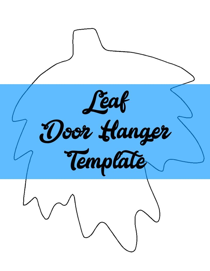 Leaf Door Hanger Wreath Attachment Template Door Hanger