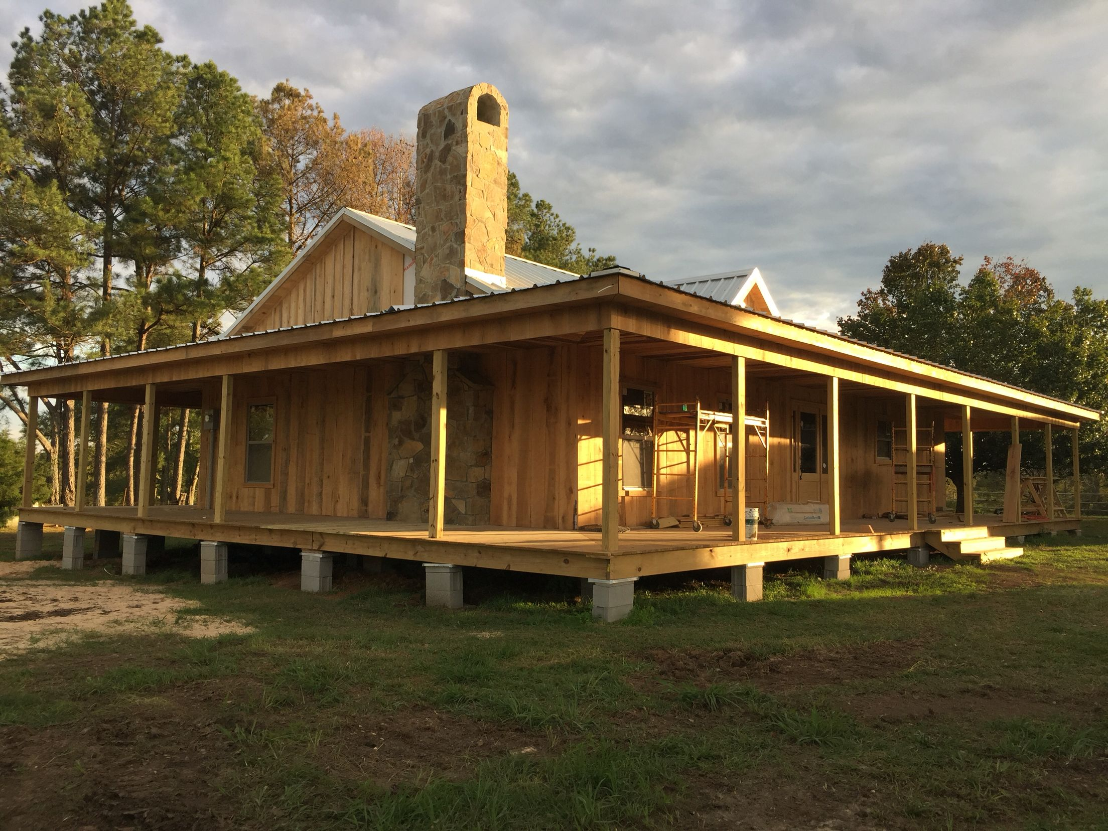 Cypress guest house with wrap around porch at The Hideaway at Reeds ...