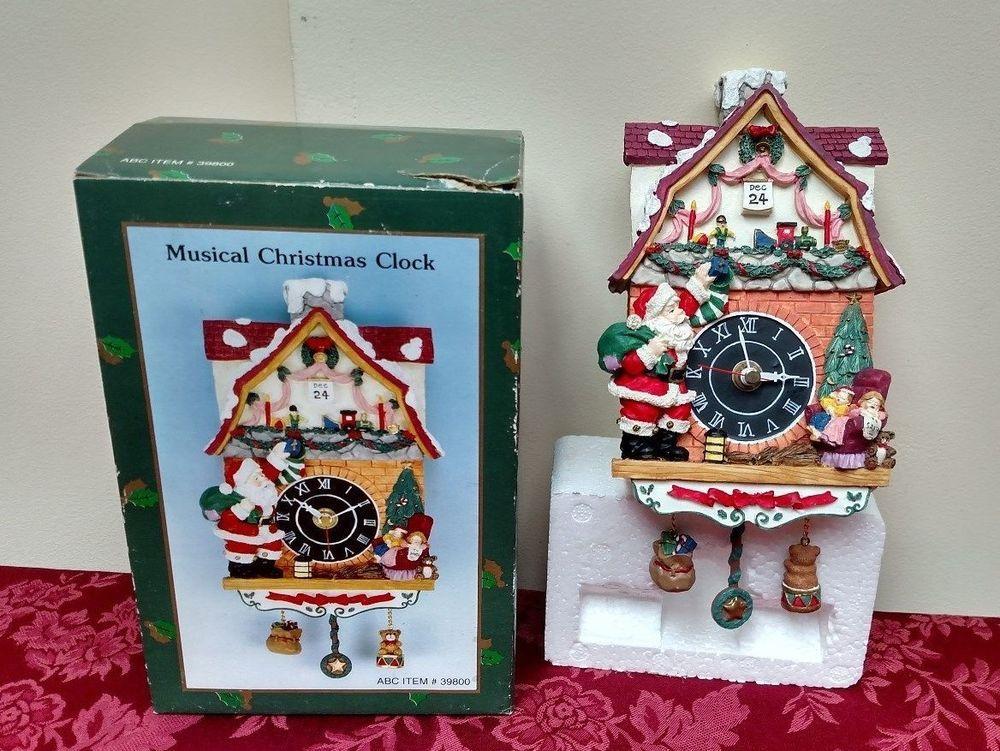 new musical christmas clock 39800 mantle - Musical Christmas Clock