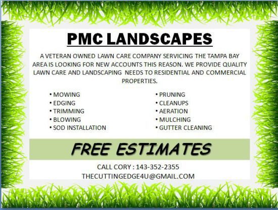 landscaping flyer template powerpoint landscaping flyer templates