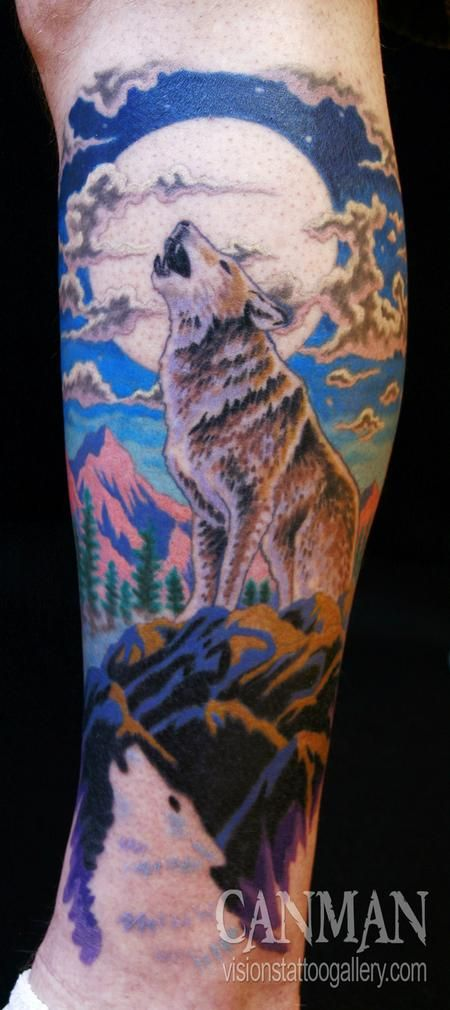 Canman Wolf Wolf Tattoos Wolf Tattoo Meaning Howling Wolf Tattoo