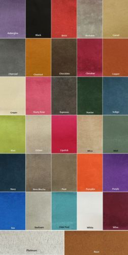 30 Microfiber Suede Upholstery Fabric Color options