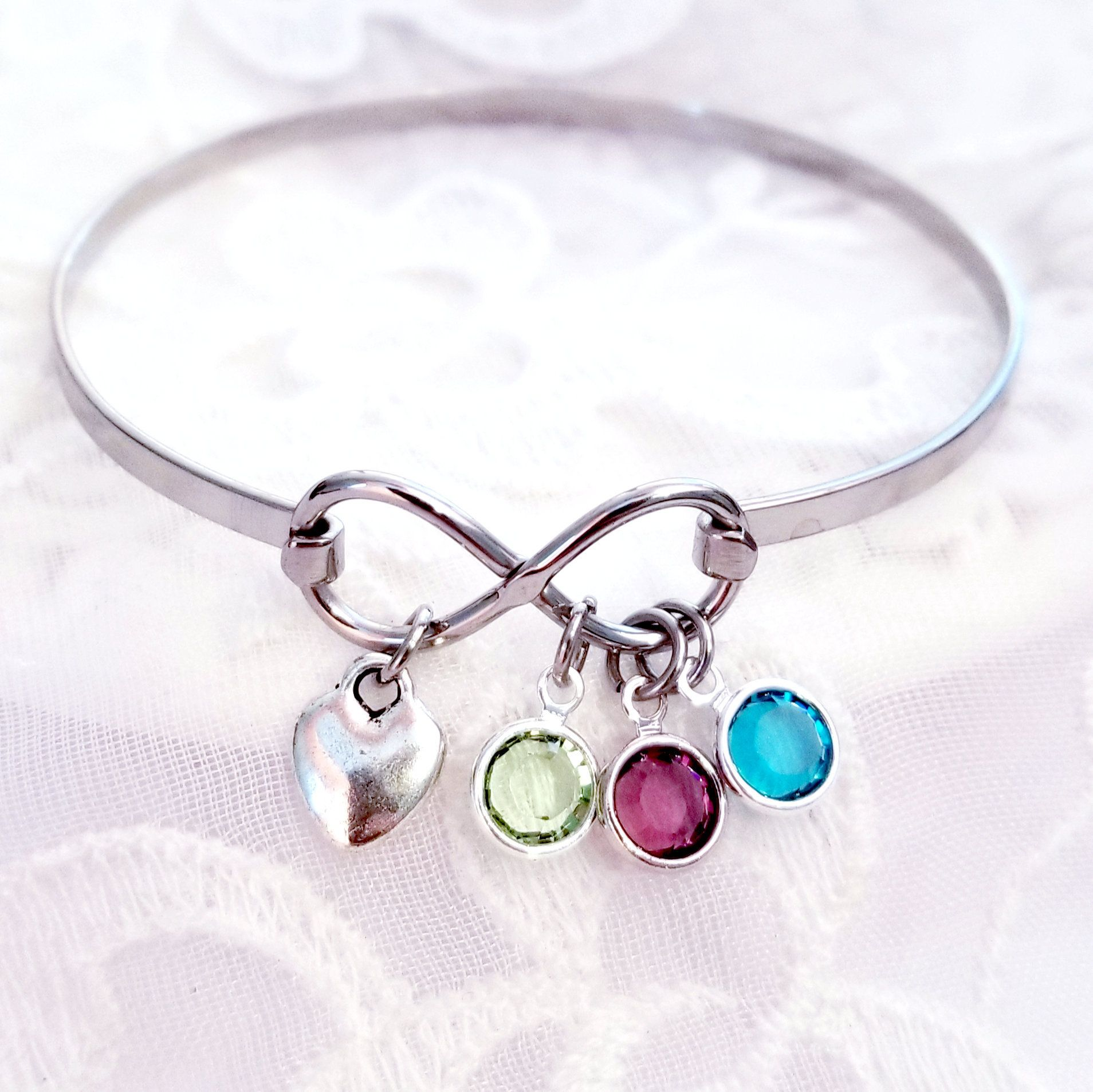 Picture Bracelet Photo Jewelry for Mother Photo Charm Bracelet Photo Gift for Grandmother Birthstone Jewelry New Mom Wife Bracelet Gift
