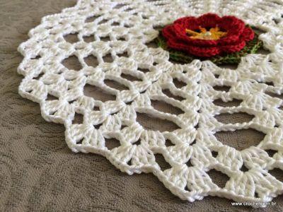 Trilho de mesa - caminho de mesa com flor rasteirinha - passo a passo (58)