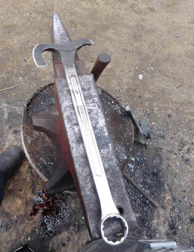 Wrench Axe Blacksmithing Knives Forging Metal Wrench Knife