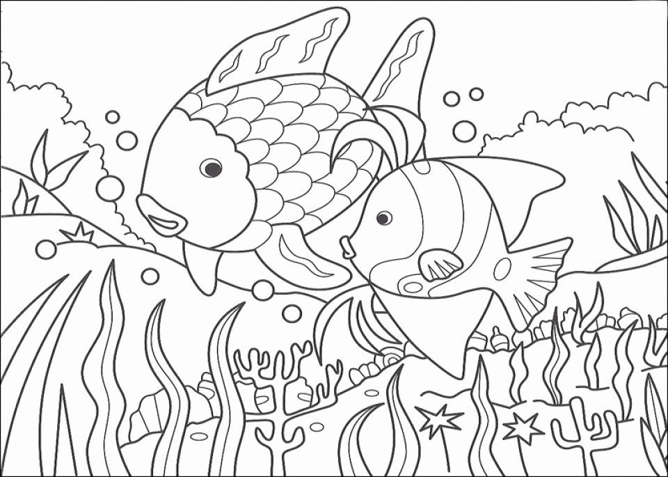 Rainbow Fish Coloring Page Inspirational Get This Printable Rainbow Fish Coloring Sheets For Kids In 2020 Rainbow Fish Coloring Page Rainbow Fish Coloring Pages