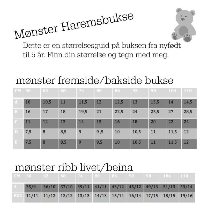 Mønster Haremsbukser | Mønster, Buksemønster, Sy klær baby