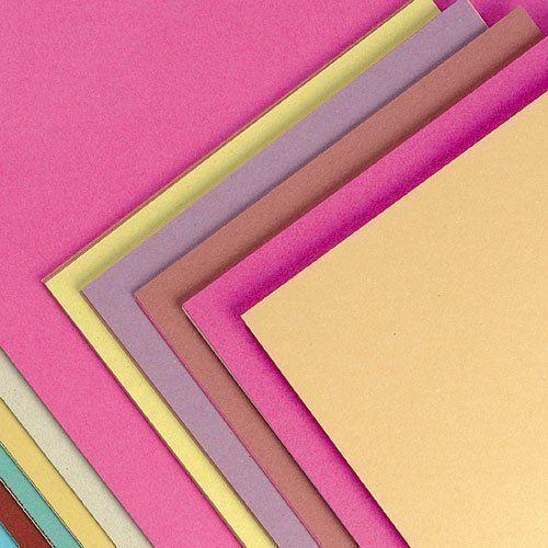 A4 Double Sided Plain Coloured Quality Craft Card