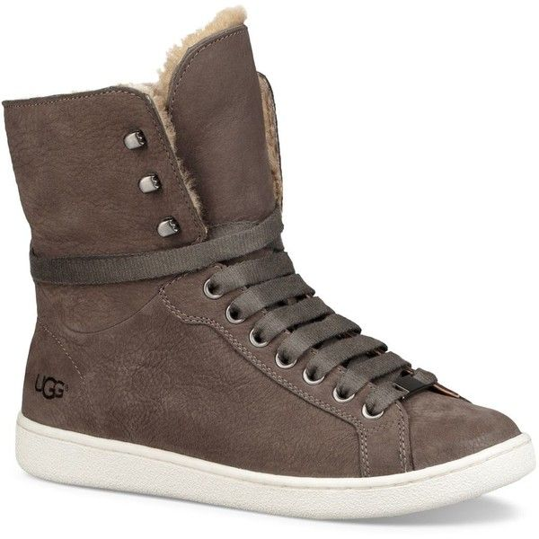 UGG Starlyn Leather and Shearling High Top Sneakers wAKrLoFIE