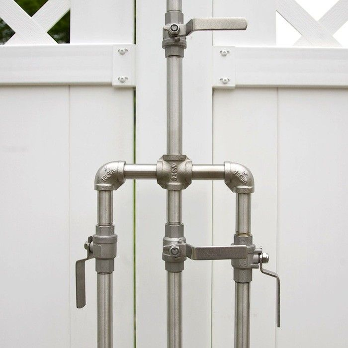 exposed pipe shower . High Low  Rugged Outdoor Shower low Showers and House