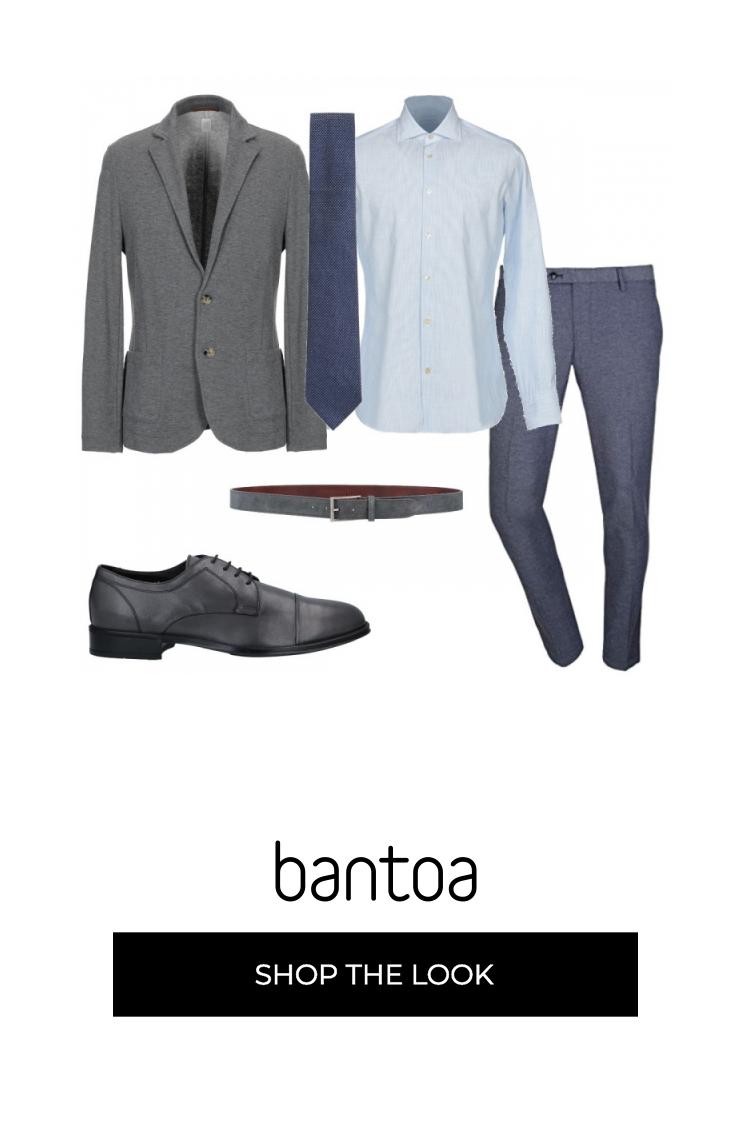 vendita calda reale marchi riconosciuti ultima moda Look e colori eleganti. Giacca grigia abbinata alle scarpe e ...