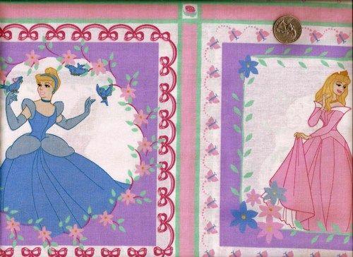 1 Yard Quilt Fabric Disney Princess Patch Purple Fabric Girls ... : disney quilting fabric - Adamdwight.com