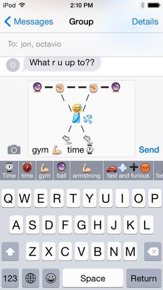 Top Keyboards for iOS 8 Funny emoji texts, Emoji texts