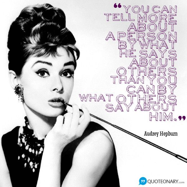 Audrey Hepburn quote about personality