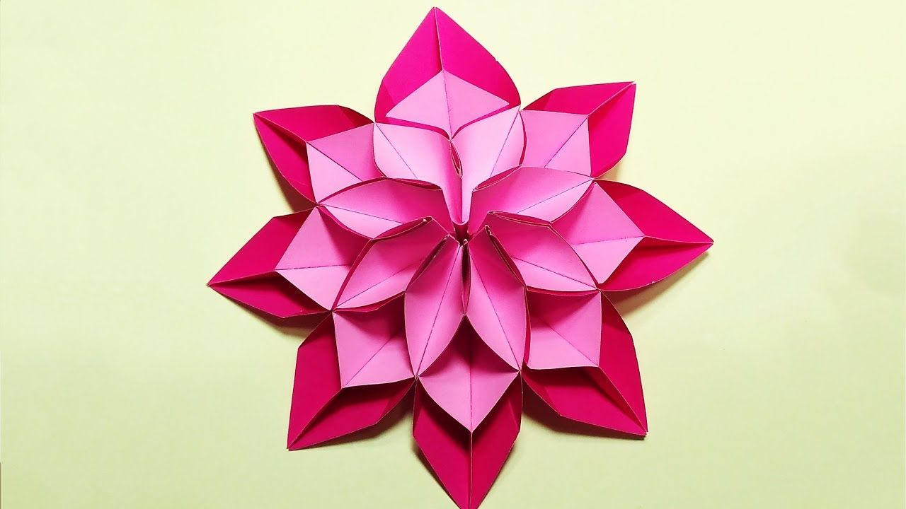 Unique Flower In Origami Style 3 Modifications Of Paper Flower For