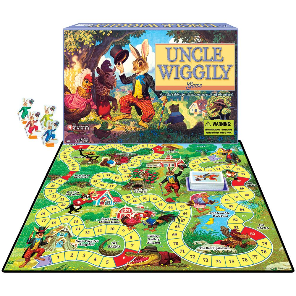 Classic Uncle Wiggily Childrens Fun Board Game Dr. Possum