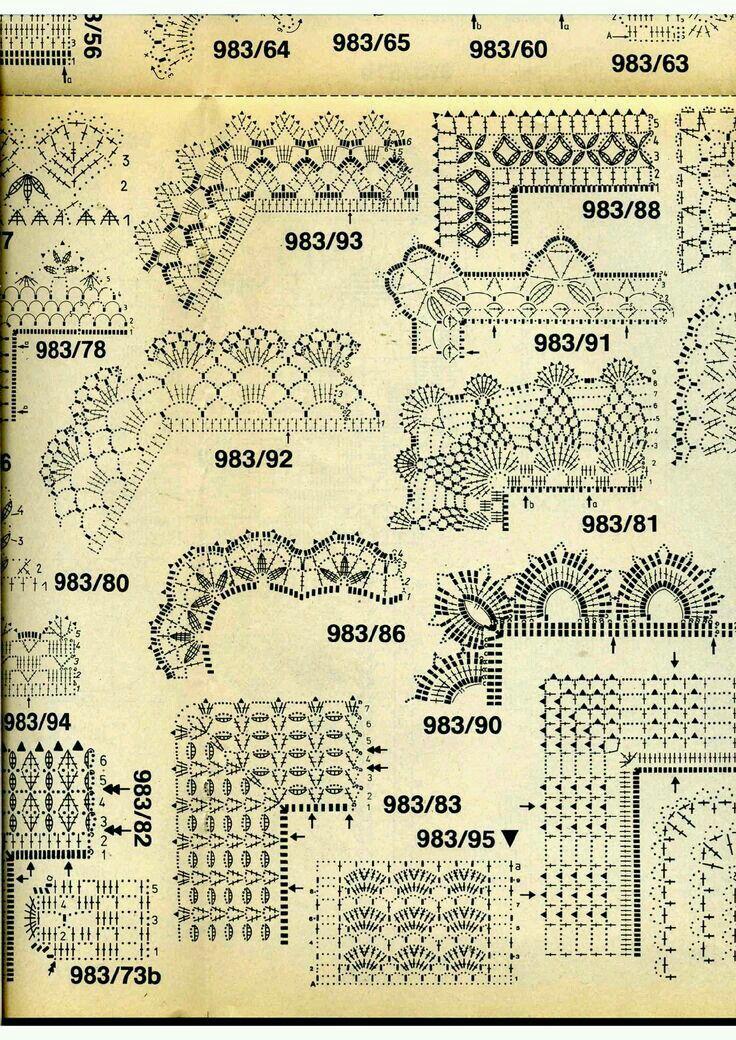 crochet border   Patrones Crochet / Crochet Patterns   Pinterest ...