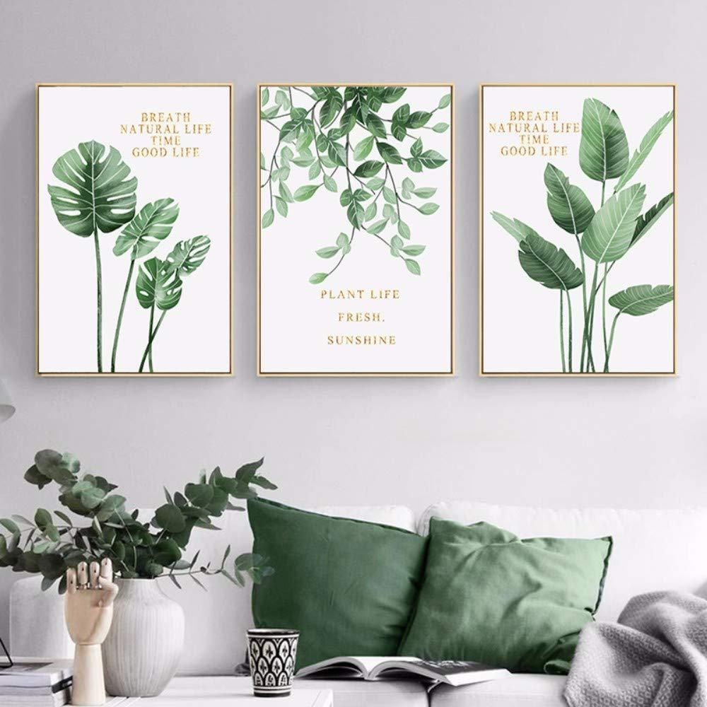 Pictures Canvas Wall Pictures Art Print Design Canvas Green Leaf
