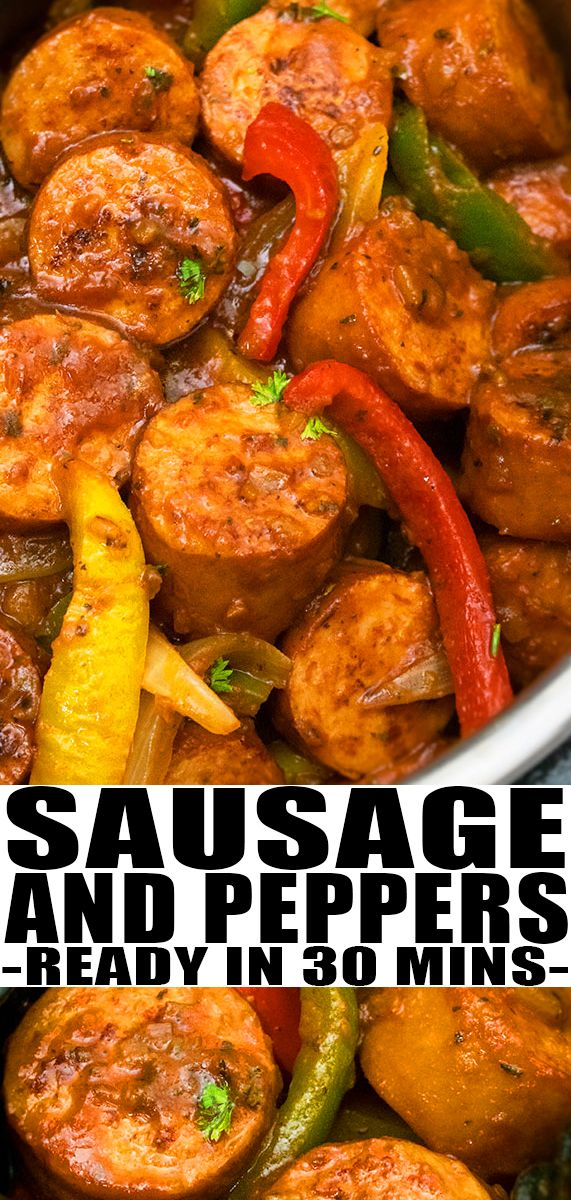 Instant Pot Sausage and Peppers Recipe images