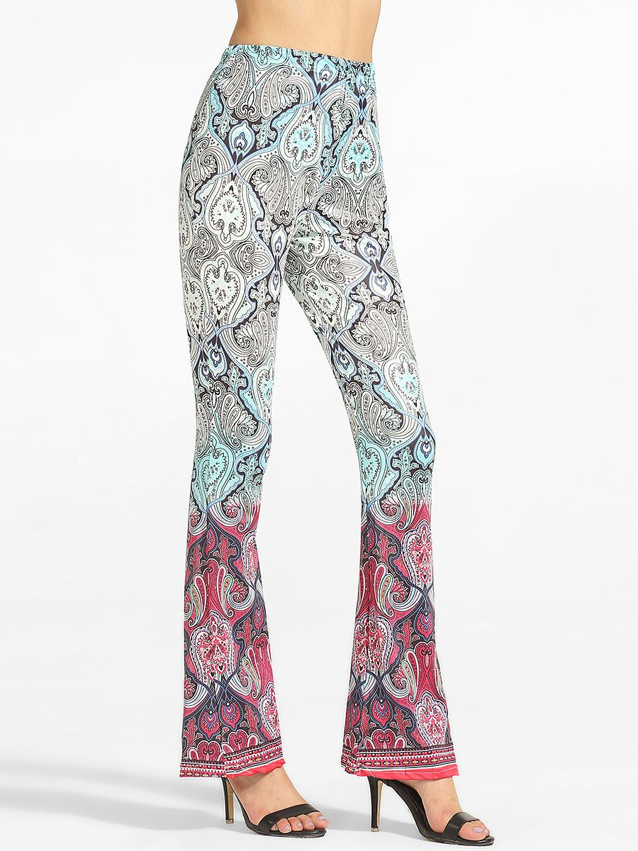 Printed flared casualpants only usd more info fashion