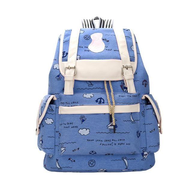 add559aa06 Women Printing Rucksacks Big Capacity School Backpacks For Teenager Girls