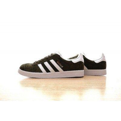 ab52436f69a0 Original Unisex Adidas Originals Gazelle Olive Green White BB5490 Running  Shoes