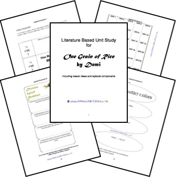 One Grain of Rice FREE Lessons and Lapbook Printables
