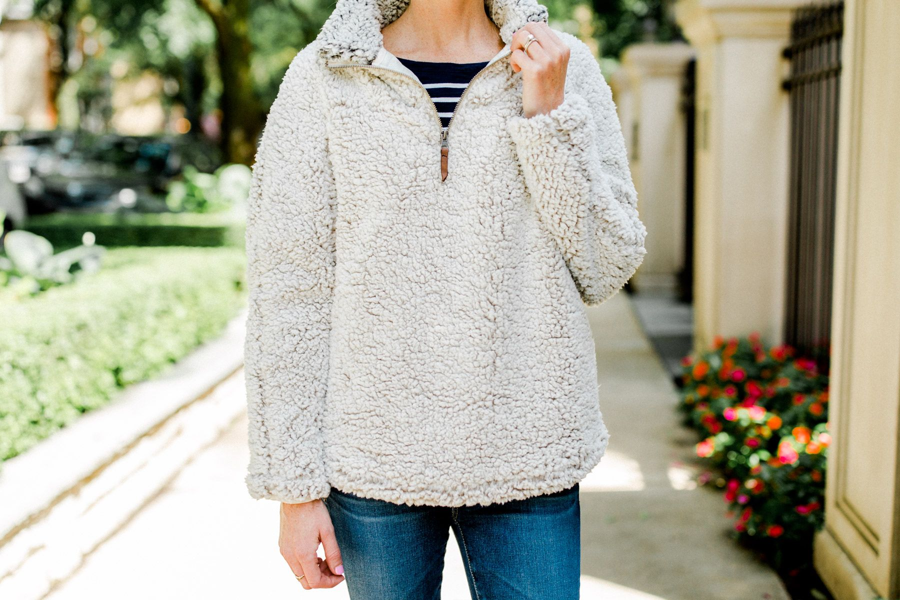 bafaf0d247b Nordstrom Anniversary Sale - Thread and Supply Wubby Fleece Pullover Kelly  in the City