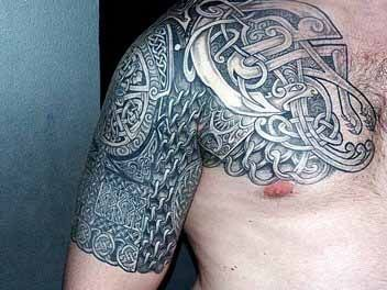 Very Cool Celtic Half Sleeve Rose Tattoos For Men Tattoos For Guys Tribal Tattoos