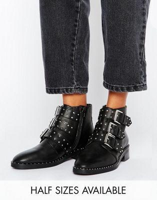 c7ff4f47c253 ASOS - ASHER - Bottines en cuir cloutées   Chaussures   Pinterest