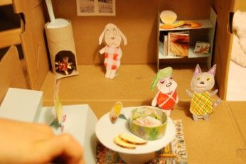 Post image for puppenhaus selber basteln aus einem - Puppenhaus basteln ...